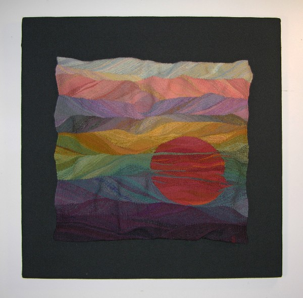 Eccentrically woven tapestry, wool and cotton