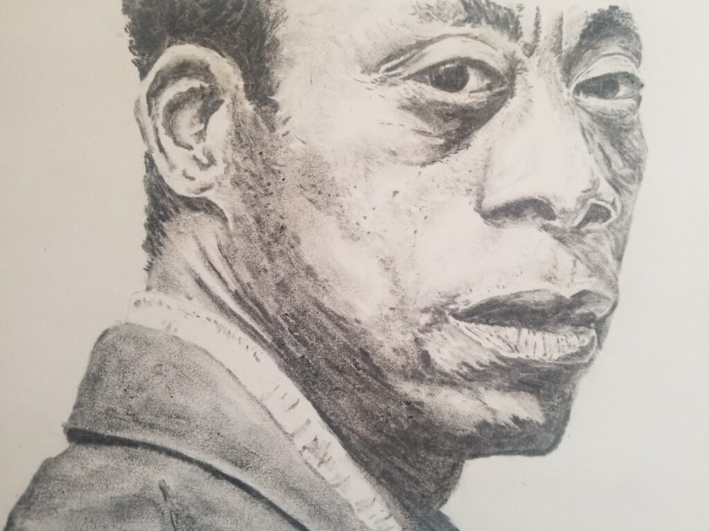 Portrait. Charcoal Drawing