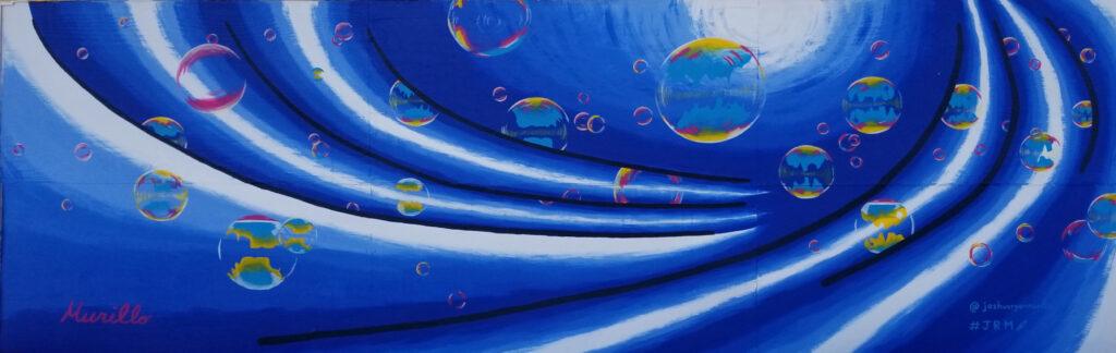 Abstract. Acrylic Mural.