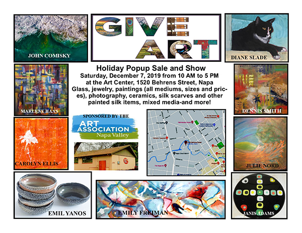 GIVE ART HOLIDAY POPUP SHOW AND SALE