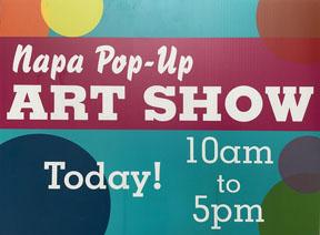 May 1st Napa Pop Up Art Show